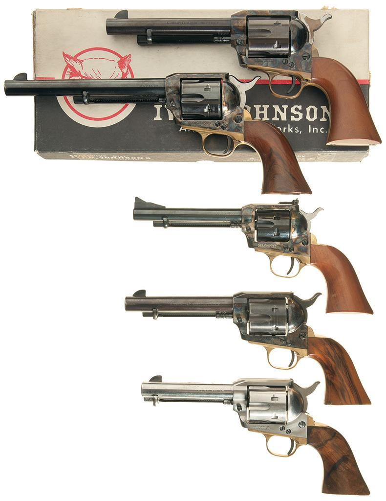 five iver johnson marked single action army style revolvers