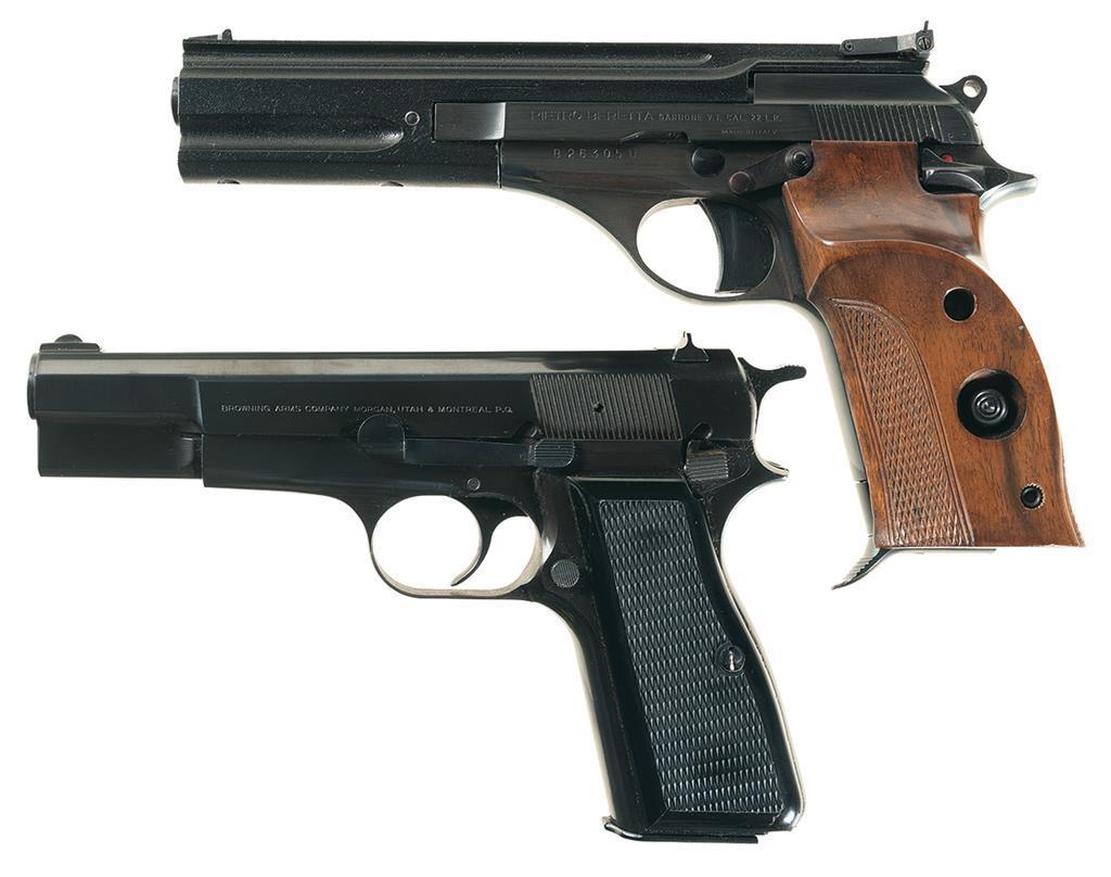 Two European Semi-Automatic Pistols -A) Beretta Model 76 Pistol