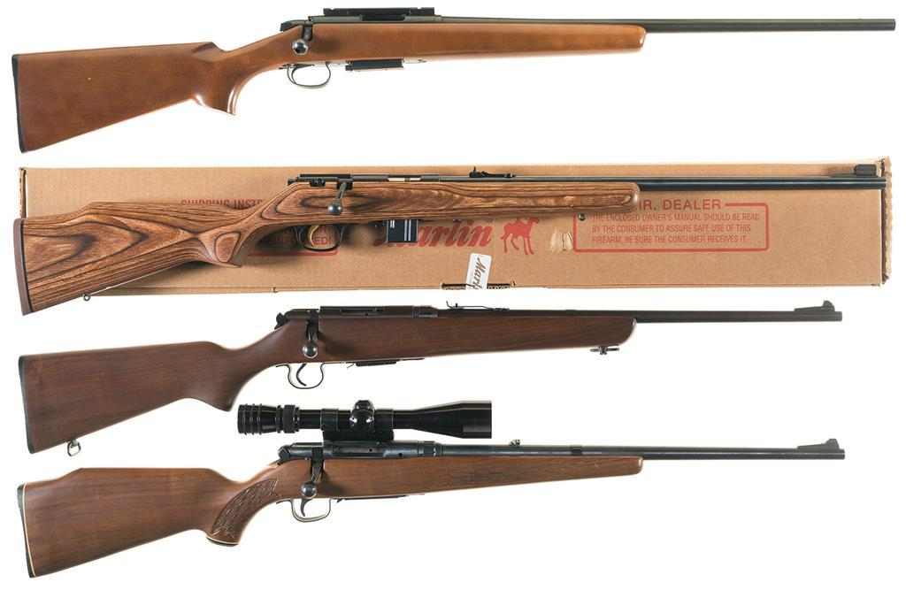 Four Bolt Action Sporting Rifles A Remington Model 788 Rifle