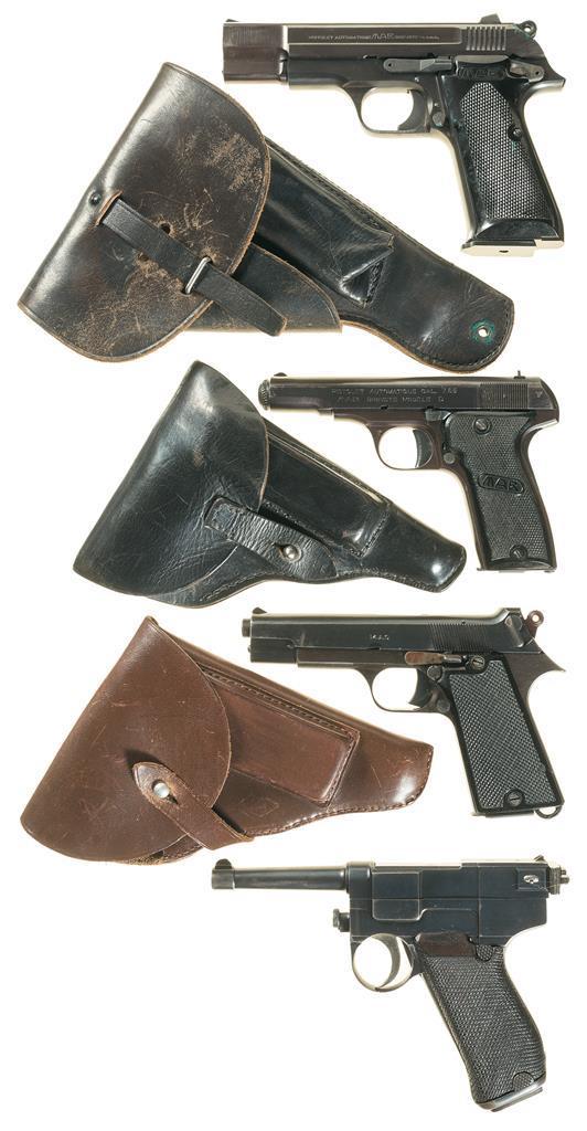 Four European Semi-Automatic Pistols -A) MAB PA-15 M1 Pistol wit