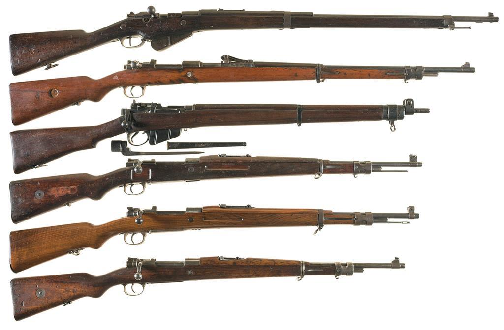 Six European Military Bolt Action Rifles