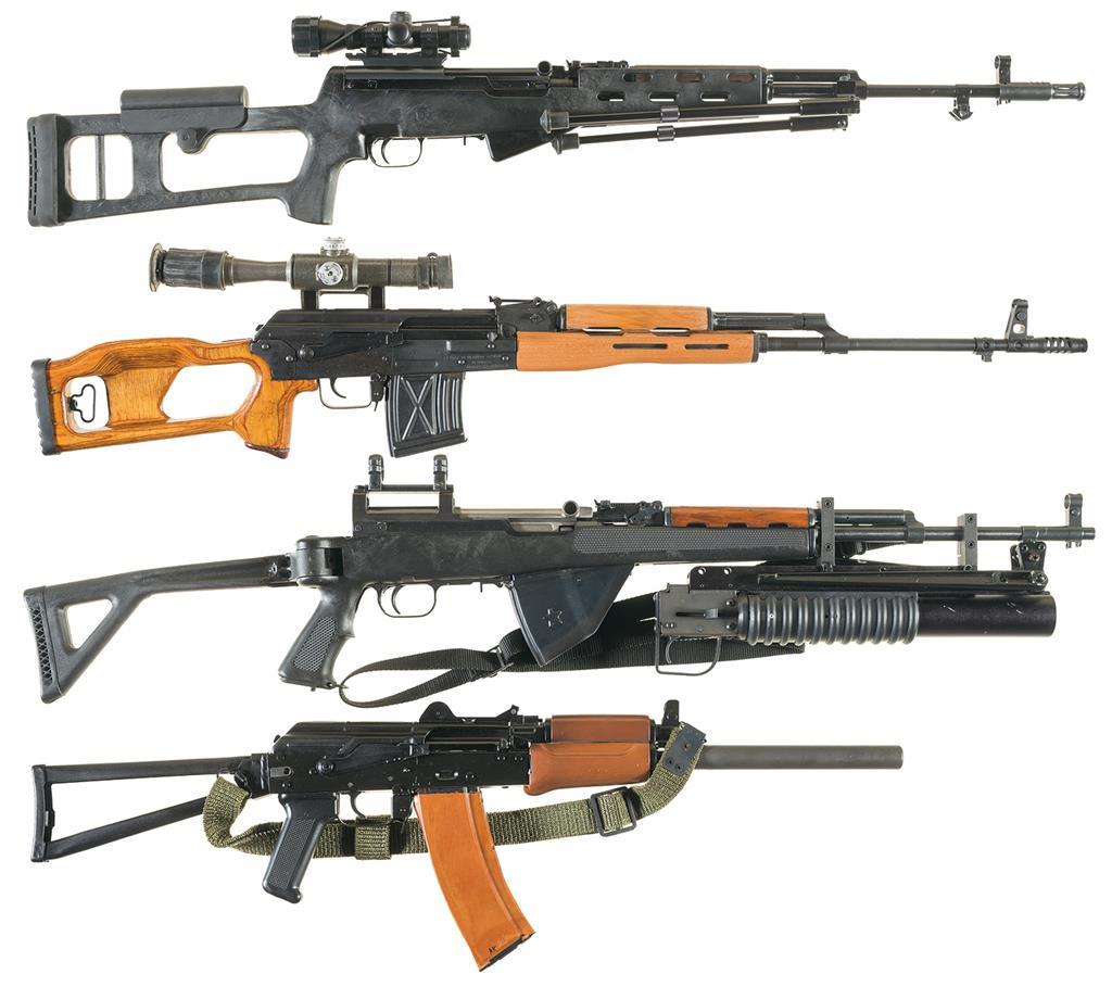Four Semi-Automatic Sporting Rifles