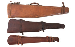 Two Rifle Scabbards and One Mutton Case