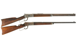 Collector's Lot of Two Winchester Model 1892 Lever Action Rifles