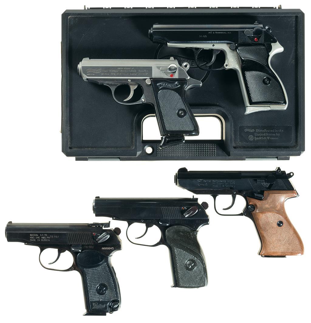 Five European Semi-Automatic Pistols