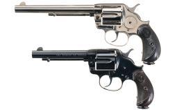 Two Antique Colt Model 1878 Double Action Revolvers
