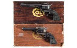 Two Colt Single Action Revolvers with Boxes