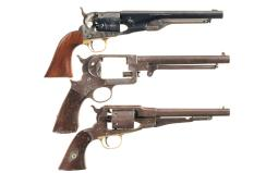 Three Black Powder Revolvers