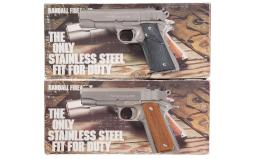 Two Randall Firearms Semi-Automatic Pistols with Boxes