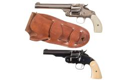 Two Antique Smith & Wesson Single Action Revolvers