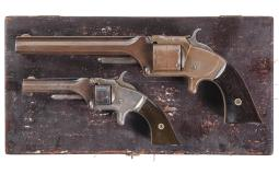 Two Antique Smith & Wesson Tip-Up Revolvers