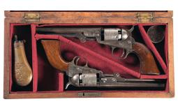 Two Colt Percussion Revolvers with Case