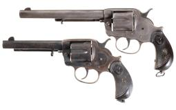 Two Colt Model 1878 Double Action Revolvers