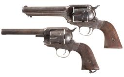 Two Remington Model 1875 Single Action Army Revolvers