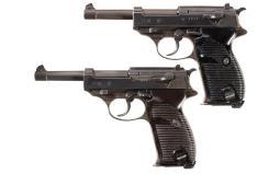 Two P.38 Semi-Automatic Pistols