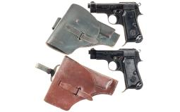 Two Beretta Semi-Automatic Pistols with Holsters
