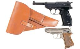 Two Walther Semi-Automatic Pistols