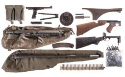Grouping of Assorted Machine Gun Parts and Accessories