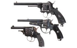 Three European Double Action Revolvers