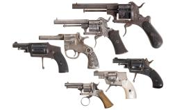 Six Revolvers and One Blank Pistol