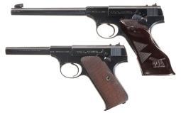 Two Pre-World War II Colt Woodsman Semi-Automatic Pistols