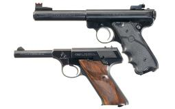 Two Semi-Automatic Sporting Target Pistols