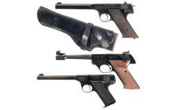 Three High Standard Semi-Automatic Target Pistols