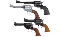 Collectors Lot of Four Ruger Single Action Revolvers
