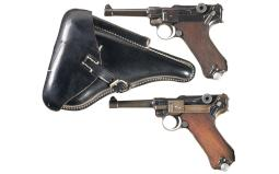 Two German Luger Semi-Automatic Pistols