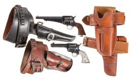 Two Revolvers with Holsters