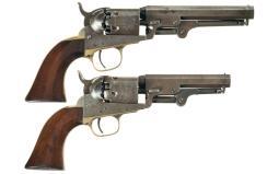 Two Colt Model 1849 Pocket Percussion Revolvers