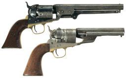 Two Antique Colt Revolvers