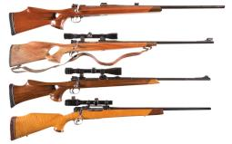 Four Bolt Action Sporting Rifles