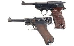 Two Semi-Automatic German Military Pistols