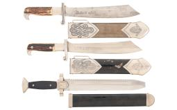 Three Nazi Enlisted Service Knives with Sheaths