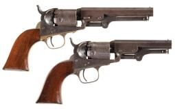 Two Colt Model 1849 Pocket Percussion Revolvers
