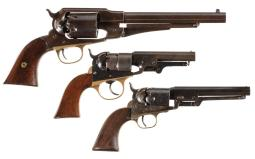Three Percussion Revolvers