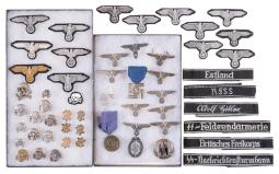 Nazi Style Pins, Badges, and Armbands