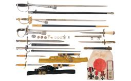 Three Nazi Swords, Assorted Daggers and Bayonets