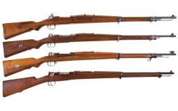 Four Bolt Action Military Rifles