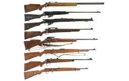 Six Bolt Action Rifles and Two Air Rifles