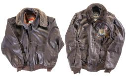Two Cooper Flight Jackets, One with Painted Patch