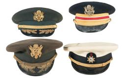 Four U.S. Miliary Style Caps