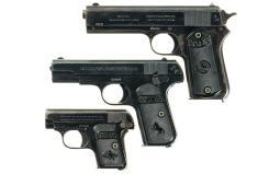 Three Colt Semi-Automatic Pistols