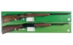 Two Remington Sporting Rifles with Boxes