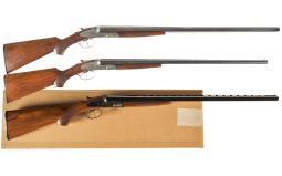 Three Double Barrel Shotguns
