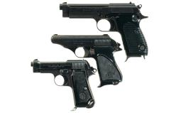 Three Italian Semi-Automatic Pistols