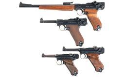 Four Erma Semi-Automatic Pistols