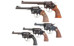 Five Double Action Revolvers