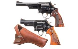 Two Smith & Wesson Model 57 Double Action Revolvers